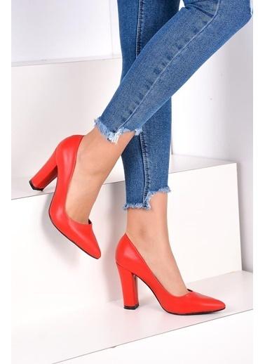 Pembe Potin A2000-19 Kadın Topuklu Ayakkabı A2000-19 Kırmızı